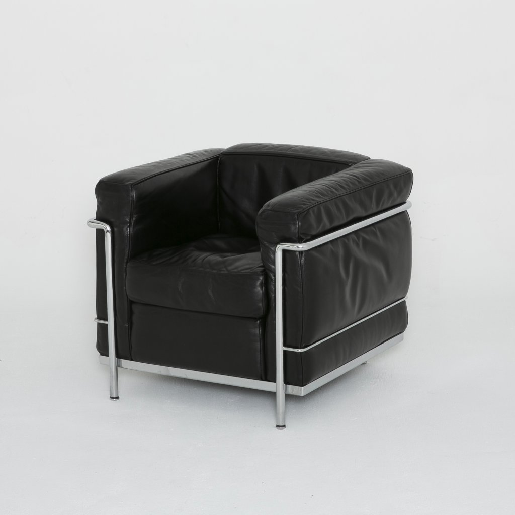 Fauteuil Charles Edouard Jeanneret dit Le Corbusier LC2 1920 (Cassina) grand format