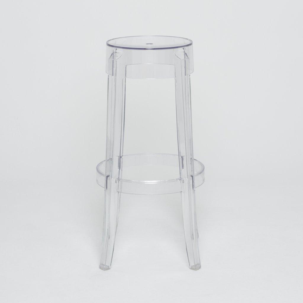 tabouret philippe starck charles ghost kartell xxo. Black Bedroom Furniture Sets. Home Design Ideas